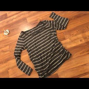 Liz Lange Tops - Maternity Striped long sleeve shirt
